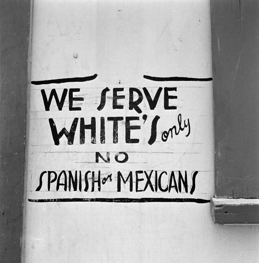Whites only sign 1949 Texas
